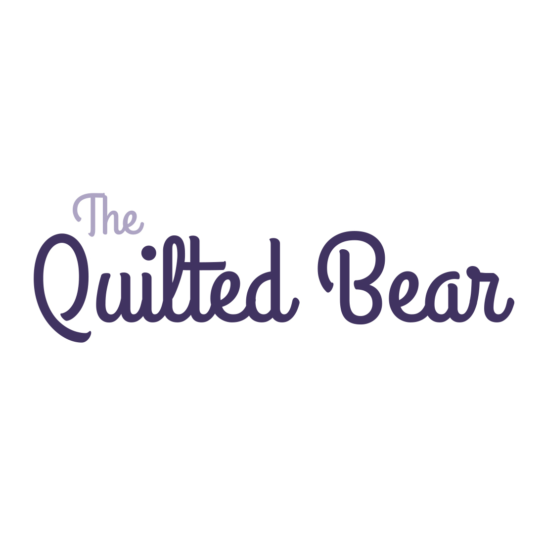Quilted Bear Logo White Space
