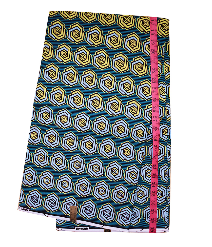 'CHANGING (ON GREEN)' AFRICAN WAX PRINT FABRIC