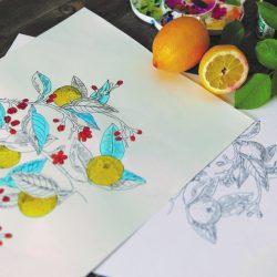 Fabric design sketch