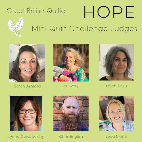 Mini Quilt challenge judges
