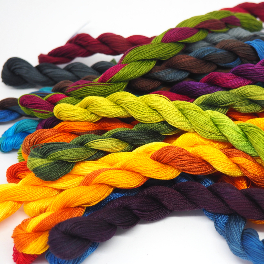Hand-dyed threads