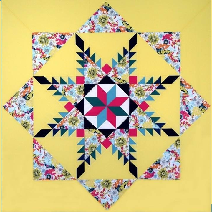 Feathered Star Quilt With Le Moyne Star Centre
