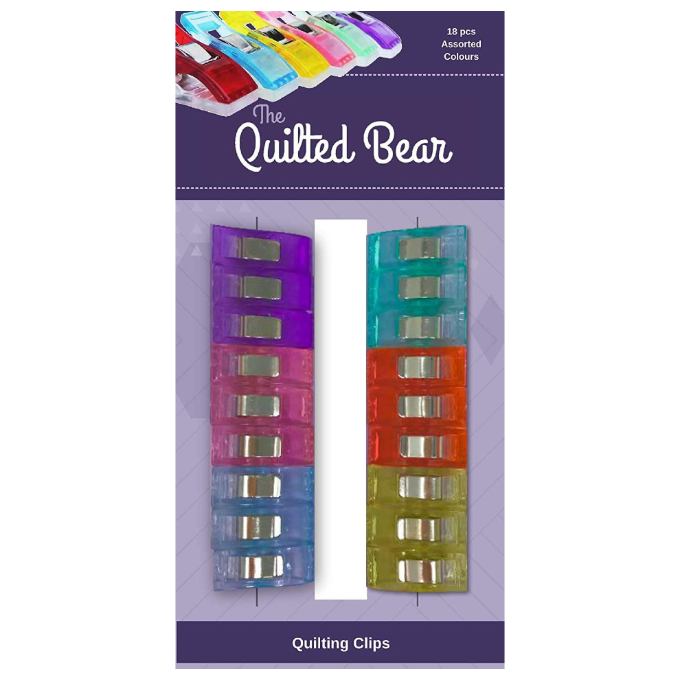 The Quilted Bear Quilting Clips - High Quality Multi-Purpose Quilting Clips