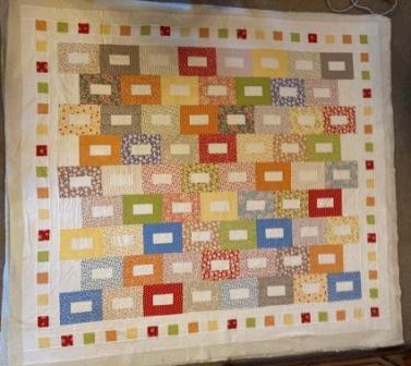 """JELLYROLL RECTANGLES  55"""" x  78"""" or   67"""" x 78"""""""