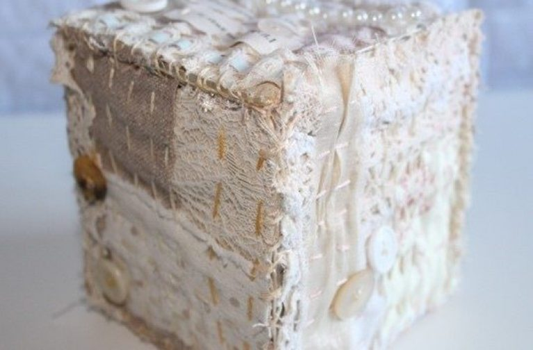 Ami James: Vintage Fabric Trinket or Memory box