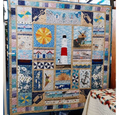 Dorset & Hampshire Seaside pick and mix quilt