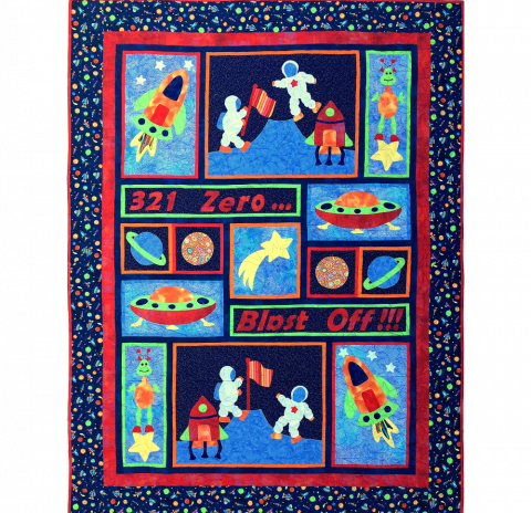 A Child's fantasy Quilt