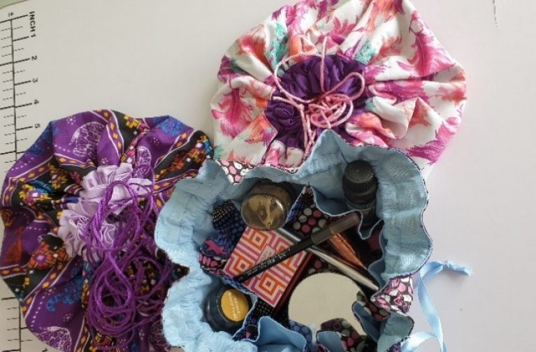 Janice Croft: Circular Drawstring Pouch