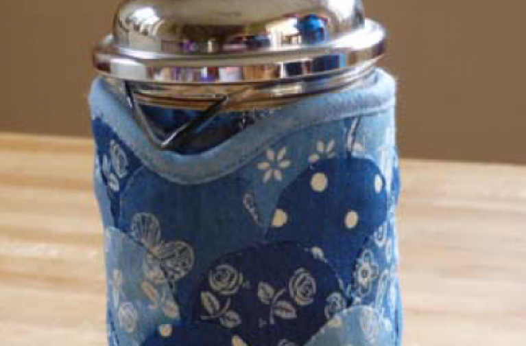 Molly Brown: Chambray Coffee Pot Cosy
