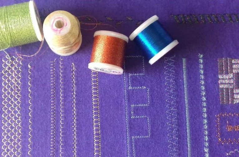 Pauline Barnes: Top Tips for Machine Stitching with Metallic Threads