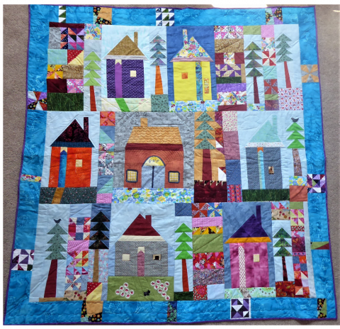 Wonky Houses from Fun with Fabric