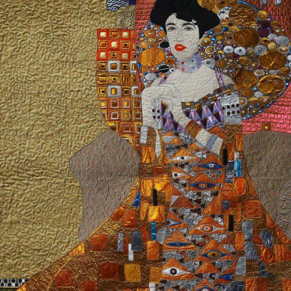 Art quilt by Yan Liu - machine quilting edit 2