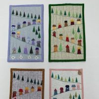 Introduction to Miniature Quilts - Little Village Scenes